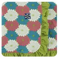 Kickee Pants Print Ruffle Stroller Blanket (Tropical Flowers)