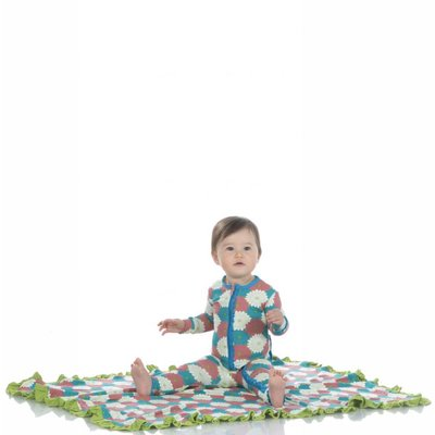 Kickee Pants Print Ruffle Stroller Blanket (Tropical Flowers)