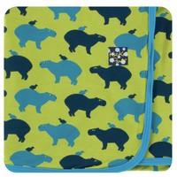 Kickee Pants Print Swaddling Blanket (Meadow Capybara)