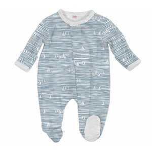 Magnificent Baby Blue Seeing Sailboats Modal Magnetic Footie