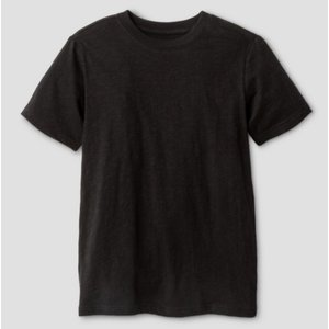 Cat&Jack Boys' Classic Slub Short Sleeve T-Shirt (Black)
