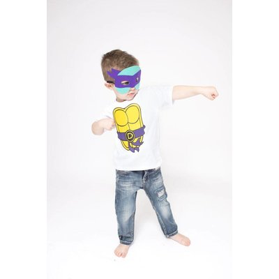 Lincoln&Lexi Superhero Cape & Masks-TMNT-Purple
