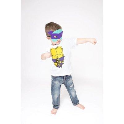 Superhero Cape & Masks-TMNT-Purple