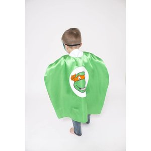 Lincoln&Lexi Superhero Cape & Masks-TMNT-Orange