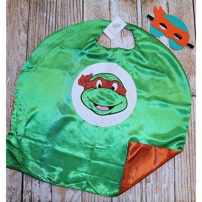 Superhero Cape & Masks-TMNT-Orange