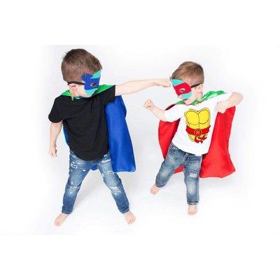 Lincoln&Lexi Superhero Cape & Masks-TMNT-Blue