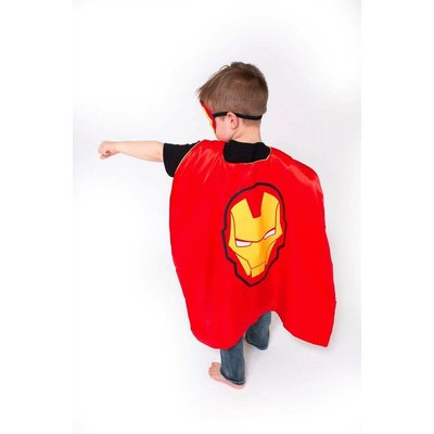 Lincoln&Lexi Superhero Cape & Masks-Iron Man
