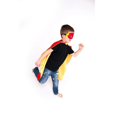 Lincoln&Lexi Superhero Cape & Masks-Flash