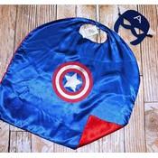 Superhero Cape & Masks-Captain America