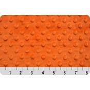 Lincoln&Lexi Orange Minky Dot