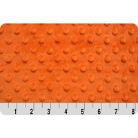 Orange Minky Dot