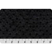 Black Minky Dot
