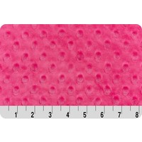 Hot Pink Minky Dot