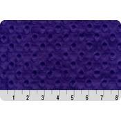 Purple Minky Dot