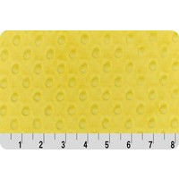Bright Yellow Minky Dot