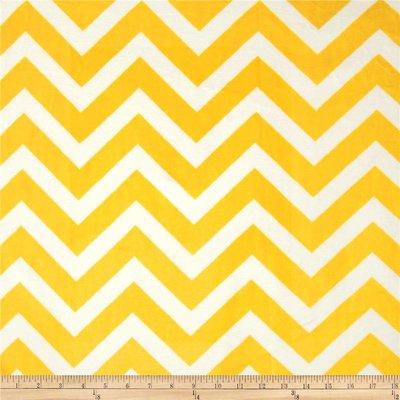 Lincoln&Lexi Yellow/White Chevron Cuddle
