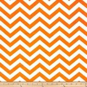 Lincoln&Lexi Orange/White Chevron Cuddle