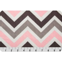 Lincoln&Lexi Light Pink/White/Gray Chevron Cuddle