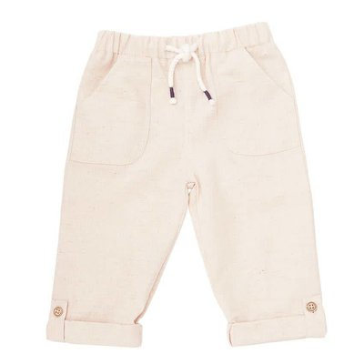 Mud Pie KHAKI FAUX LINEN PANTS
