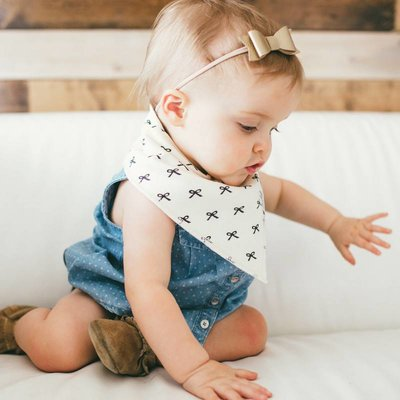 Copper Pearl baby bandana bibs - paris