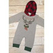 Lincoln&Lexi Merry Christmas Buffalo Plaid Romper