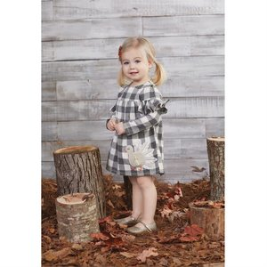 Mud Pie Buffalo Check Turkey Dress Toddler