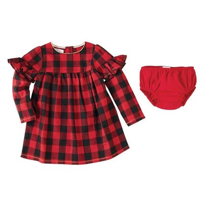 Mud Pie Buffalo Check Dress & Bloomer Set