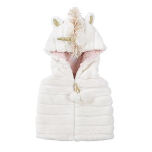 Mud Pie Unicorn Hooded Vest
