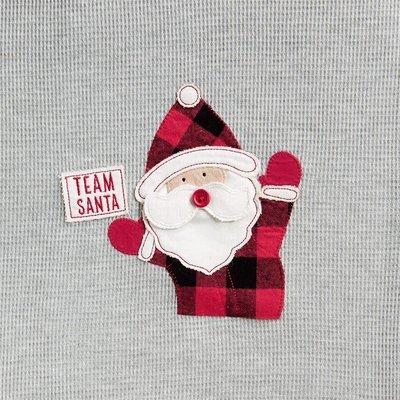 Mud Pie Team Santa Checked Two-Piece Set