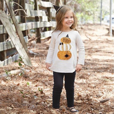 Mud Pie Glitter Pumpkin Tunic & Legging Set