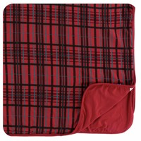 Kickee Pants Holiday Toddler Blanket (Christmas Plaid - One Size)