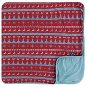Kickee Pants Holiday Toddler Blanket (Nordic Print - One Size)