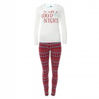 Kickee Pants Women's Print Long Sleeve Fitted Pajama Set (Nordic Print)