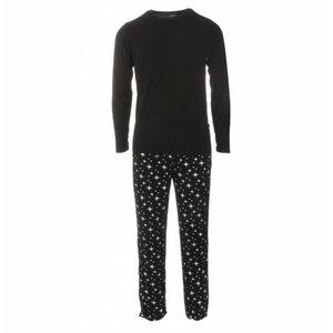Kickee Pants Men's Holiday Long Sleeve Pajama Set (Silver Bright Stars)
