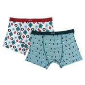 Kickee Pants Holiday Men's Boxer Brief Set (Glacier Holiday Lights & Natural Ornaments)