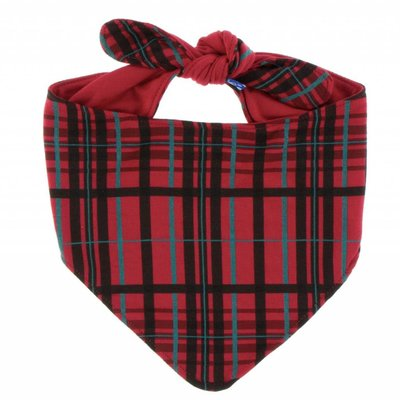 Kickee Pants Print Dog Bandana (Christmas Plaid)
