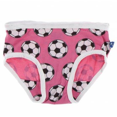 Kickee Pants Girl Underwear Set (Flamingo Brazil Stripe and Flamingo Soccer)