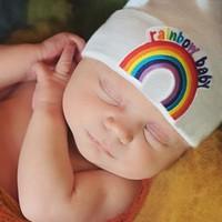iLYBEAN Rainbow Baby Patch - White Hat