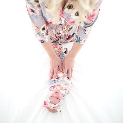 Posh Peanut French Gray Floral Robe