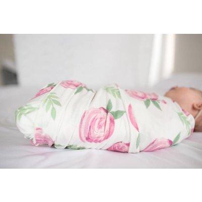 Copper Pearl knit swaddle blanket - grace