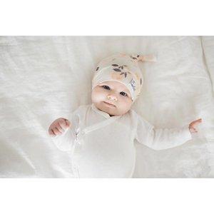 Copper Pearl newborn top knot hat - caroline