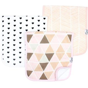 Copper Pearl premium burp cloths - blush