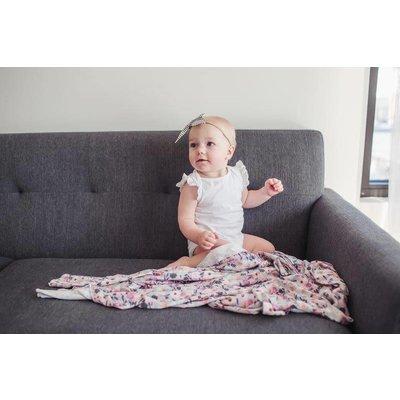 Copper Pearl knit swaddle blanket - morgan