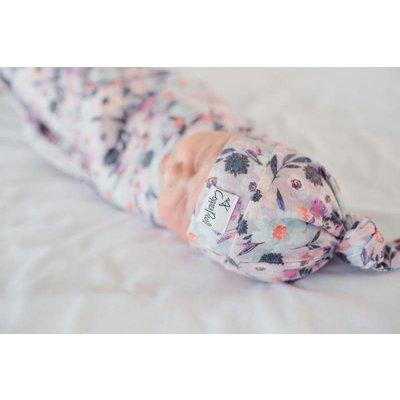 Copper Pearl newborn top knot hat - morgan