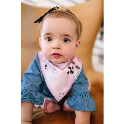Copper Pearl baby bandana bibs - sage
