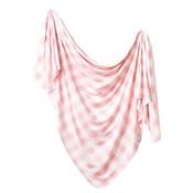 Copper Pearl knit swaddle blanket - london