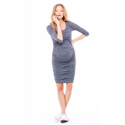 Ingrid & Isabel 3/4 Sleeve Shirred Dress