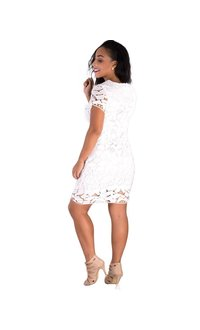 Cutout Square Crochet Dress