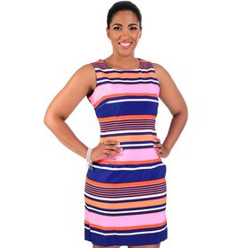 Multi Striped Broad Strap Dress