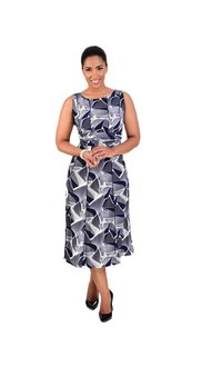 Printed Faux Embroidery Dress